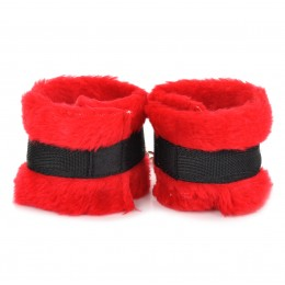 Fifty shades of grey Lovely Furry Handcuffs - Red + Black