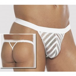 Zebra White Male Jockstraps