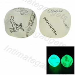Glow-in-the-Dark 23mm Sex Adult Fun Dice (2 PCS)