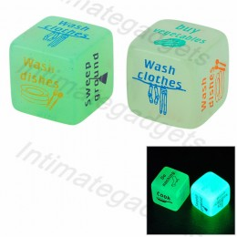 Glow-in-the-Dark 25mm Housework Fun Dice (2 PCS)