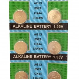 LR44 / AG13 1.55V Alkaline Cell Button Batteries (10-Piece Pack)