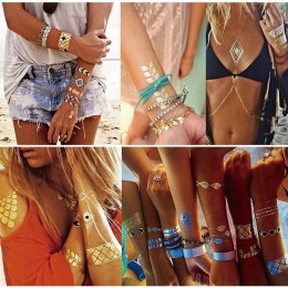 Waterproof Gold Bracelets Temporary Tattoos 10 pcs/Lot(Assorted)