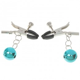 Fifty shades Bells Adjustable Loose/Tight Tip Nipple Clamps (Pair/Color Assorted)