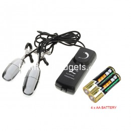 Fifty shades Dual Clip Body Massager with Vibration Strength Control + 4 x AA Battery