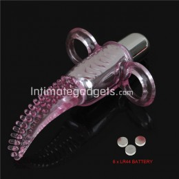 10 Speed Vibration Vibro Finger + 6 x LR44 Battery