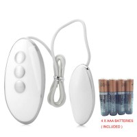 Mini iegg 20 Frequency Vibrator Female Masturbation Bullet Eggs - White + 4 x AAA Batteries