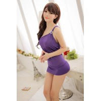 Hot One-Shoulder Tight Skirt Night Dress + G-string
