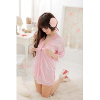 Sexy Bathrobe Style Babydoll Sleep Wear + G-string