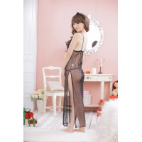 Women's Sexy Lingerie See Through Bathrobe Style Sleepwear + G-string