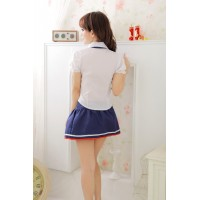 Cute Japanese Hight School Girl Costume COS Uniform Sex Lingerie w/ Tie