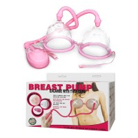 Baile Double Cups Nipple Enlarge Stimulator Breast Pump - Pink