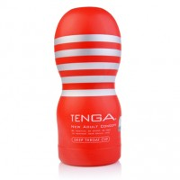 Tenga Standard Deep Throat Cup Masturbator for Men - Red