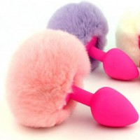 Intimate™ Silicone Rabbit Tail Butt Plugs