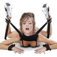 Bondage Sex Toy Plush Foot-Cuffs + Hand-Cuffs + Pillow Kit