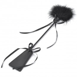 Fifty shades Humane Feather Paddle Teaser - Black