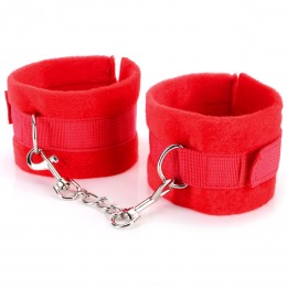 Fifty shades of grey Delicate Soft Ankle Cuffs - Red