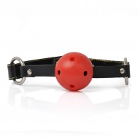 Soft Rubber Breathable Ball Gag Ball Gag w/ PU Leather Strap - (Color Assorted)