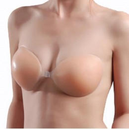 Silicone Backless Strapless Self-Adhesive Bra - Nude Color (for 32~38')