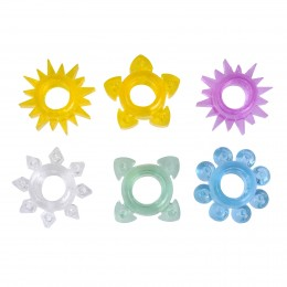 6IN1 Sunshine Thrilling Cockrings Set