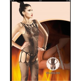 Erotic Crotchless Mesh Bodysuit