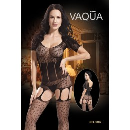 Heated Fishnet Garter Bodystocking