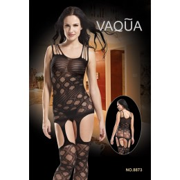 Sleeveless Diamond Net Bodystocking