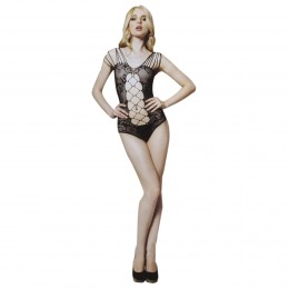 Diamond Hollow-out Stretchy Net Teddy