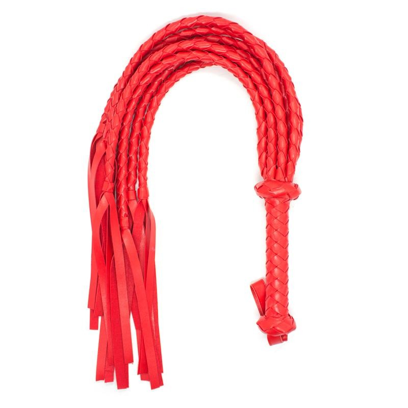Soft Leather Whip-Red