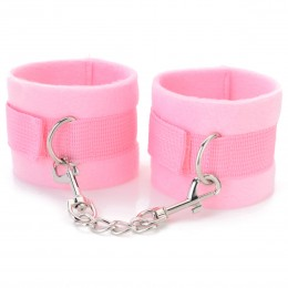 Fifty shades of grey Delicate Soft Wrist Cuffs - Pink