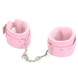 Fifty shades Furry Restraint Leather Handcuffs - Assorted color