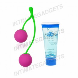 Intimate Kiss Delectable Cherry Love Balls + Water-Soluble Body Lubricating Jelly (42ml)