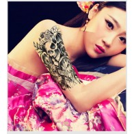 Body Art Tattoo Sticker Poker Watches Flowers Letters Pattern Temporary Tattoo Sticker - 1pcs