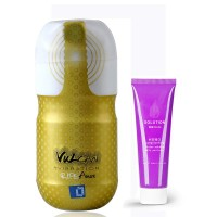 FunZone Vulcan Ripe Anus Male Masturbator Stamina Training Sleeve + Long Lasting Water Soluble Massage Lube - 60ml