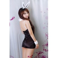 Lovely Bunny Girl Costume Strapless Clubwear + G-string