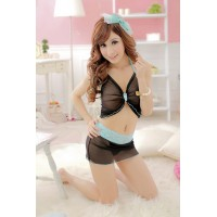 Newest Sweet Butterfly Style Tulle Halter Top with Mini Skirt