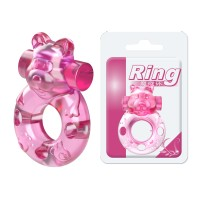 Baile® Pink Cute Dog Vibrating Cock Ring