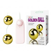 Baile® Multi-Speed Golden Vibration ABS Double Balls Anal Beads