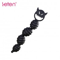 Leten® Muscle Feel Silicone Bendable Adjustable Anus Beads Anal Plug Sexy Toy for Couple