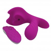 Wireless Remote Control G Spot Wearable Silicone Dildo Vibrator 10-Frequency 6 Sucking Sex Toy for Women