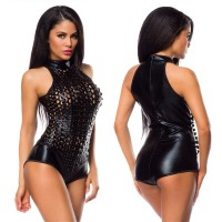 Intimate™ Leather Holes NightClub Costumes Teddy Sexy Lingerie for Women