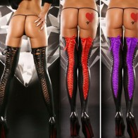 Intiamte™ Patent Leather Stocking Bodystocking Sexy Lingerie for Women