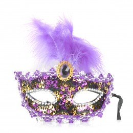 Fifty shades Gorgeous Feather Party Mask - Assorted