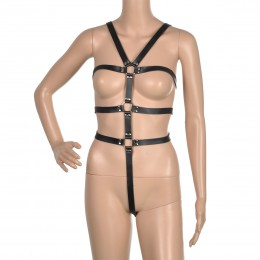 Fifty shades Sexy Strappy Bondage Teddy w/ Back Wrist Restraint