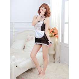 Maid Me Sheer Lace Servant Girl Costume