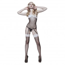 Naughty Girl Floral Lace Net Garter Bodystockings
