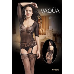 Quarter Sleeve Teddy Suspender Bodystockings