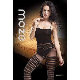 Black Striped Bodystocking