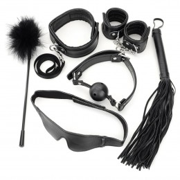 Fifty shades of grey Six-pcs Set Black Leather PU Restraint Kit
