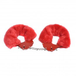 Incredible Plush Restraint Metal Cuffs-Pink