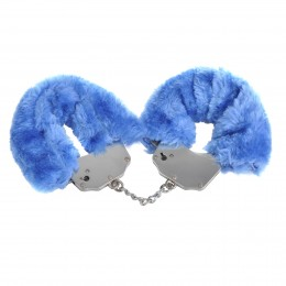 Incredible Plush Restraint Metal Cuffs-Blue